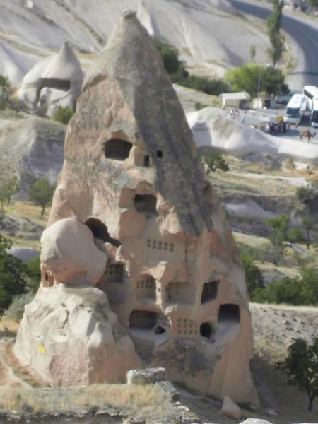 Rock hewn houses in Kapydokia, Turkey