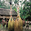 "THe ""Protectors"" pose along the upper Sepik river, Papua New Guinea."