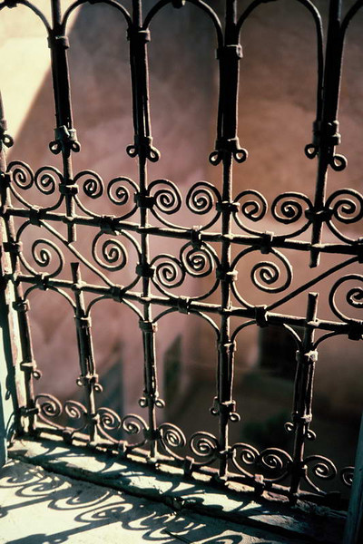 Wrought iron detail from the Kasbah in Ouarzazate, Morocco.