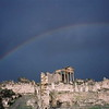 Rainbow over the ruins at Bulla Regia, Tunisia.
