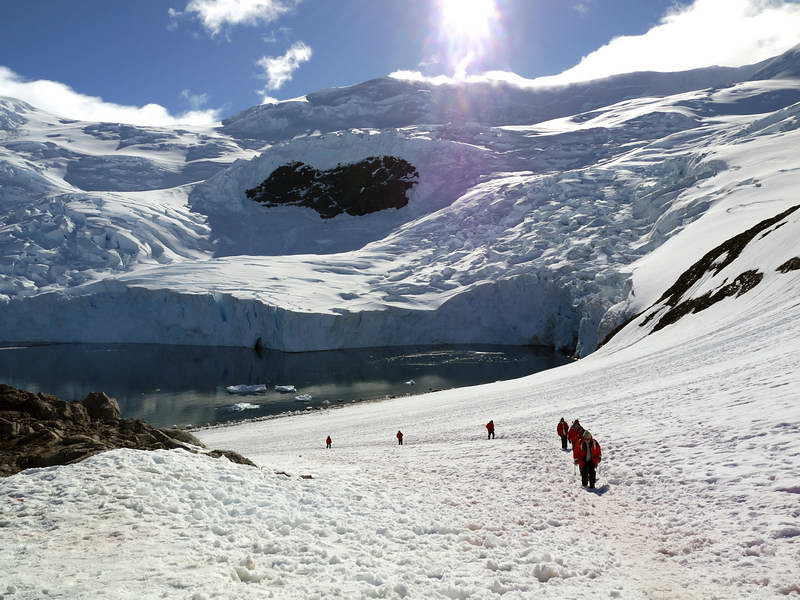 Trek to the top of the peninsula in Neko Harbour, Mainland Antarctic Peninsula