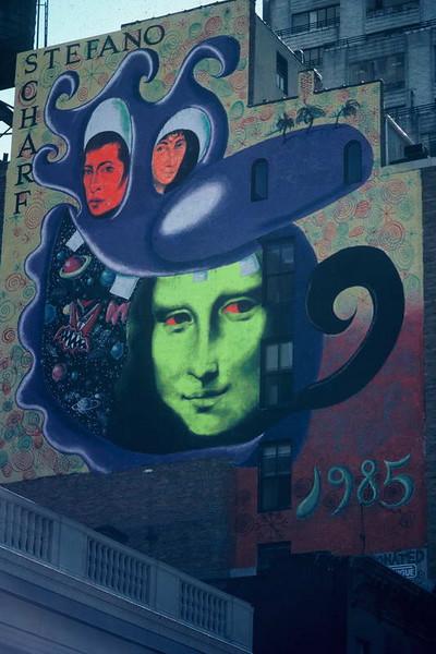 Classic 80's Soho pop art in Soho, New York City, New York USA.