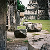 The grand plaza in front of the Jaguar temple at Tikal Guatemala.