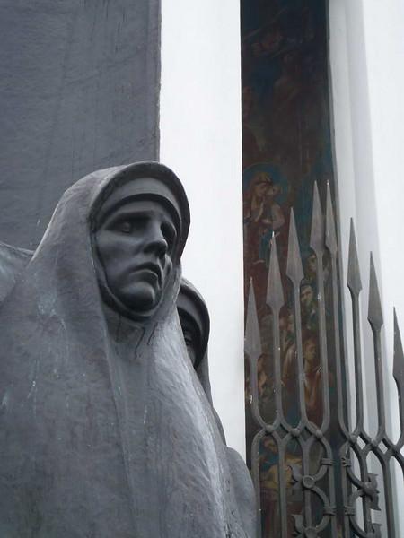 Soviet veterans war memorial for the Afghan war in Minsk, Belarus.