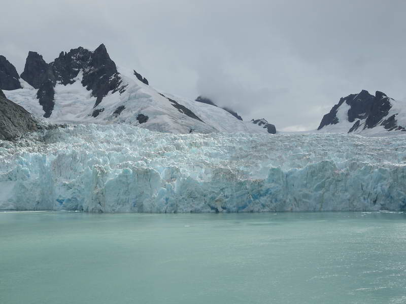 Glacier wall at the end of the Drygalski Fjord, South Georgia, British Sub-Antarctic Territory