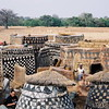 Exploring the Gurunsi painted village, rural Burkina Faso.