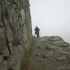 Despina catches up along the path to the sun gate at Machu Picchu, Peru.