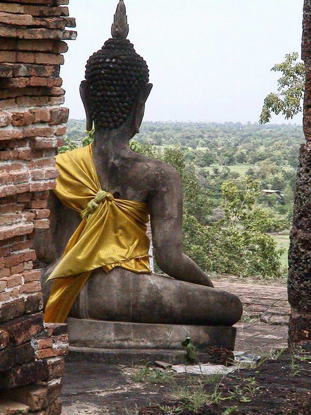 Buddha's view from the top of a temple in one of Thailand's ancient capitals, Sukhothai.