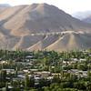 Mountains above the town in Pendjikent, Tadjikistan.