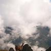 View from the top of Machu Picchu, Peru.