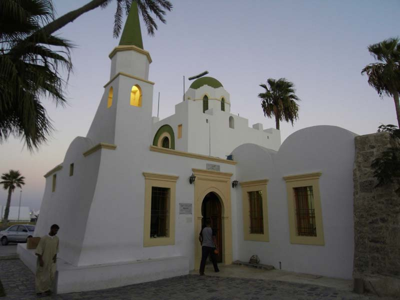 Historic old mosque in Tripoli Libya.