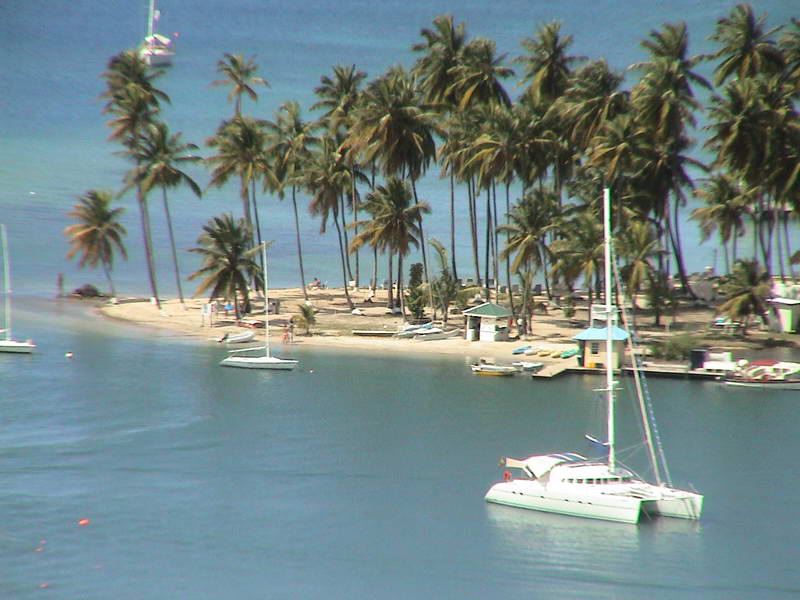 Idyllic promontory in St Lucia harbour