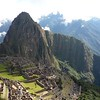 Prototypical view of Machu Picchu, Peru.