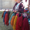Wool dyer at the cooperative in the Urubamba valley, near Cuzco Peru.