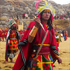 A high priest menaces at the ancient rituals at Sacsayhuanman during the Inti Raymi celebration in Cuzco, Peru.