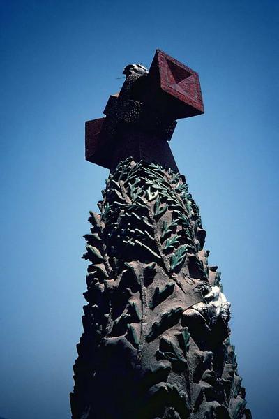 Top of one of the spires of Sagrada Familia in Barcelona