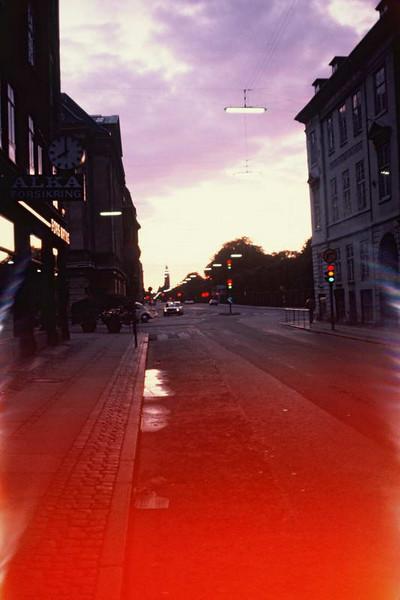 Midnight sun in Oslo Norway.