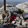 Shrine to war veterans & fatalities on top of Mount Tumbledown, Falkland Islands