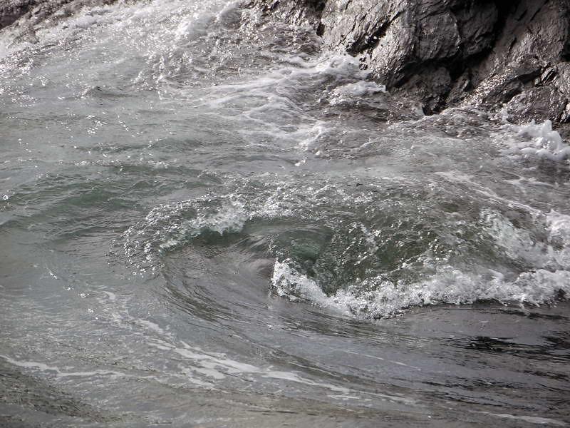 Swirling eddies in Cooper Bay, South Georgia, British Sub-Antarctic Territory