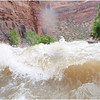 The ravaging waters of the freezing cold Yampa river rapids from Colorado through Utah, USA.