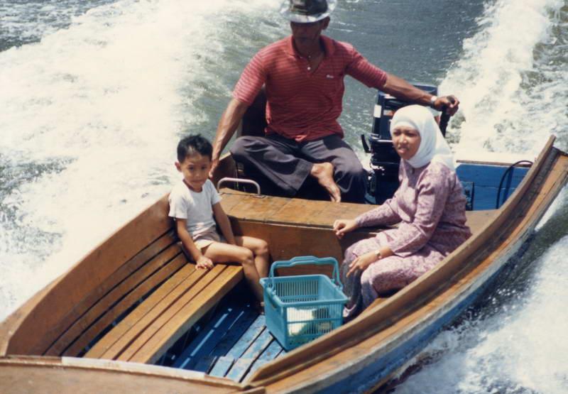 Halal speedboat to the water village in Bandar Seri Begawan, Brunei.