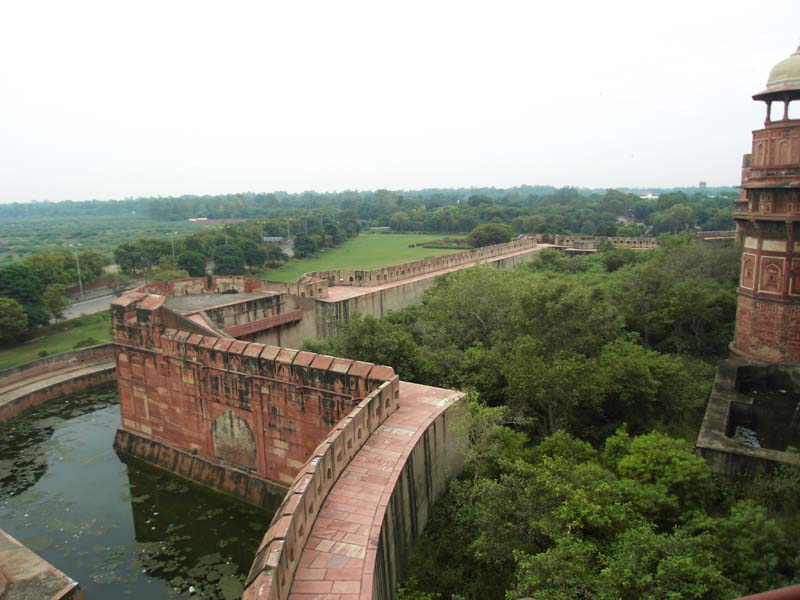 Surrounding the Red Fort in Agra India.