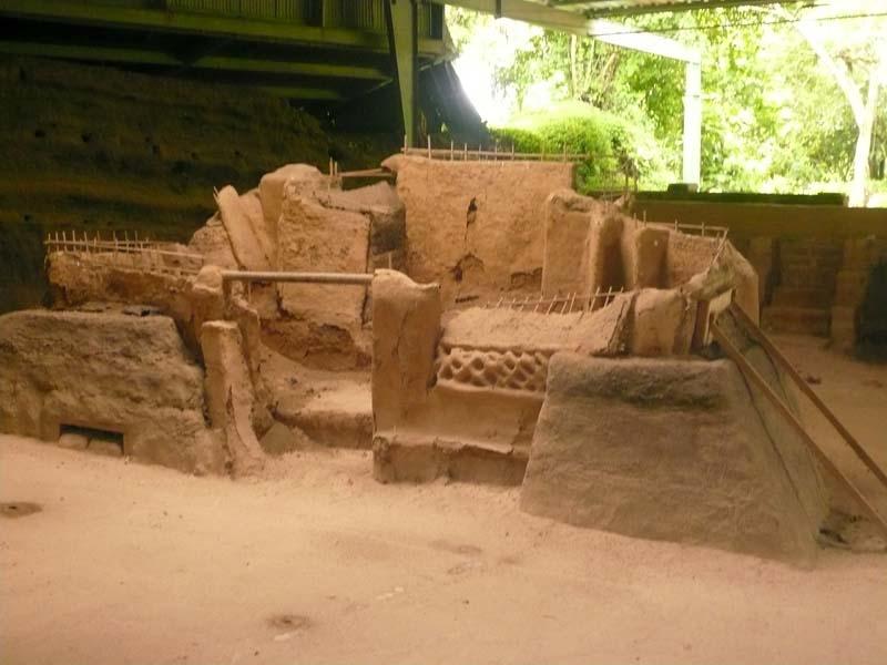 Remnants of an ancient indigenous settlement in rural El Salvador.
