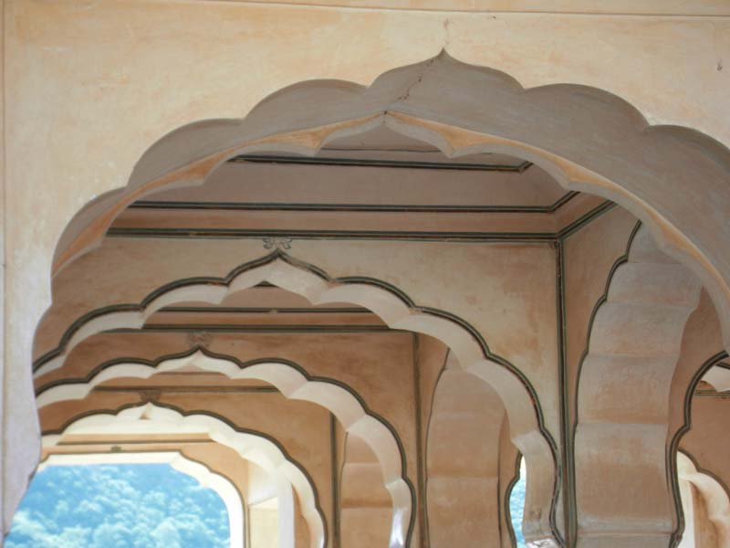 Arch detail from the palace in Jaipur, Rajastan India.