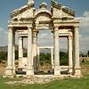 Hadrian's arch at the temple of Aphrodisias in central Turkey.