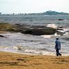 The rough seas of the Atlantic coastline in rural Liberia.
