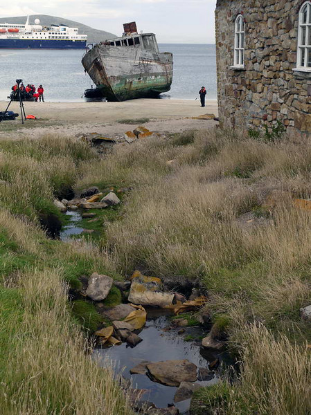 Shipwreck on New Island, Falkland Islands