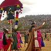 """The """"King"""" leads the ancient rituals at Sacsayhuanman during the Inti Raymi celebration in Cuzco, Peru."""