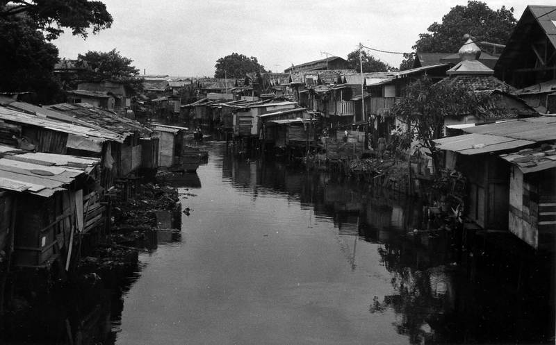 Backwater canals in Jakarta Indonesia.