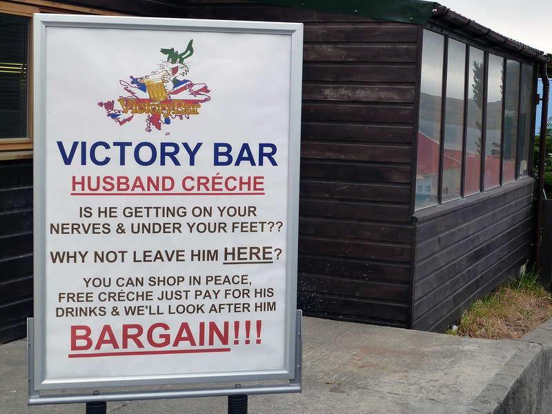 Unique sales promotion concept in Stanley, Falkland Islands
