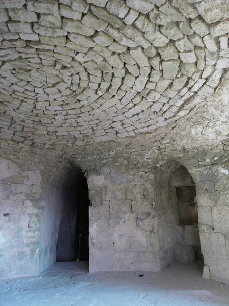 Stone ceiling detail from a Crusaders' castle, (Krak de Chevaliers), in Syria.