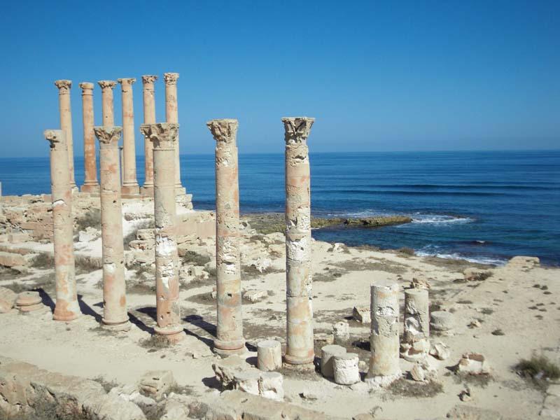 The last colonnade at Sabaratha, Libya