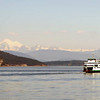 Ferry service in the San Juan islands in northwest Washington state