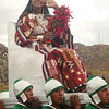 """The """"Queen"""" at Sacsayhuanman during the Inti Raymi celebration in Cuzco, Peru"""