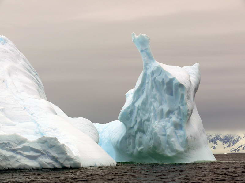 Monumental ice form at Detaille Island, Antarctic peninsula