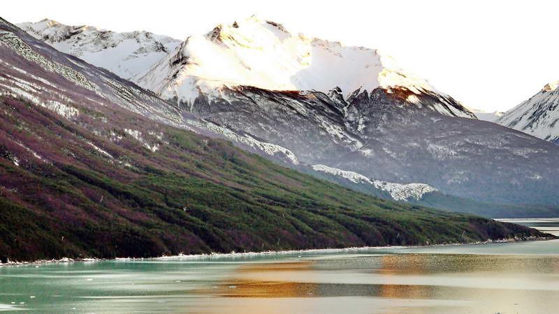 Sunrise at Los Glaciares national park in Patagonia, Argentina