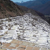The terraced salt farms of Maras in Peru.