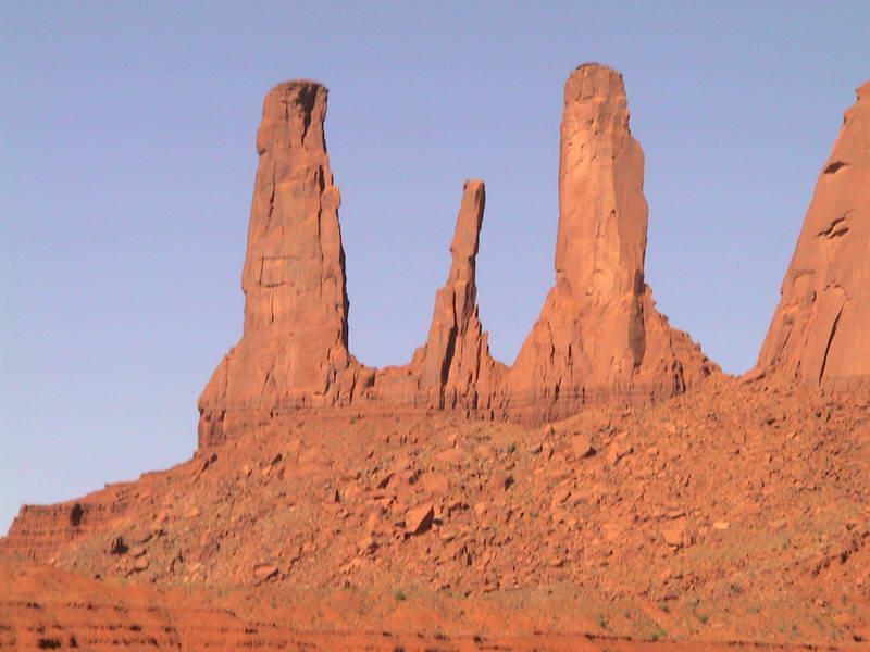 Monument Valley outcrops, Arizona USA.