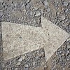 Arrows point the way to all the best sights at Sacsayhuanman near Cuzco, Peru.