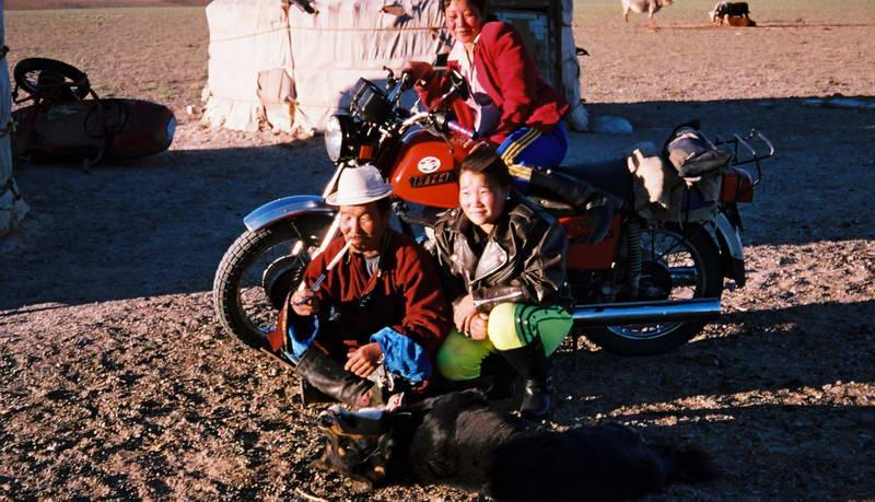 Family portrait in the Gobi