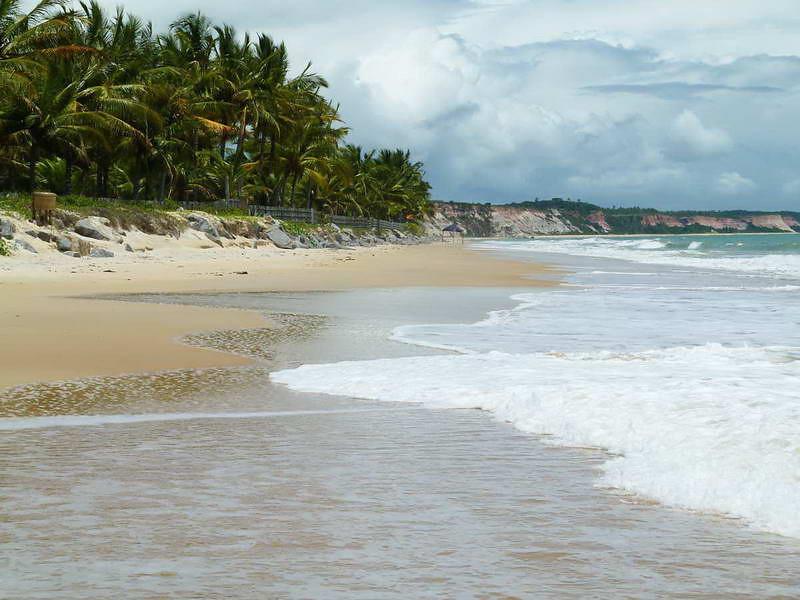 On the beach in Trancoso, Brasil