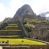 Agricultural terraces adjoining the main plateau of Machu Picchu, Peru.