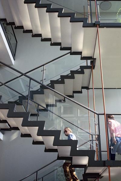 Feature staircase on the DIS architectural tour through Jutland, Denmark