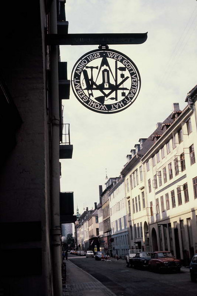 Traditional tradesman's mark on the back streets of Berne, Switzerland.