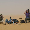 Fellow geeks prepare for the eclipse sighting on a dune top in the desert near Bilma, Niger.