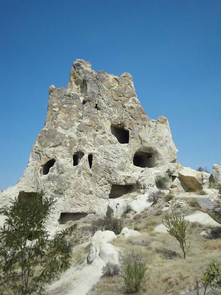 The Uchisar castle in Kapydokia, Turkey.